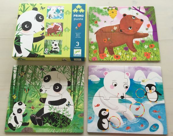 Bären Puzzle, 4 diverse