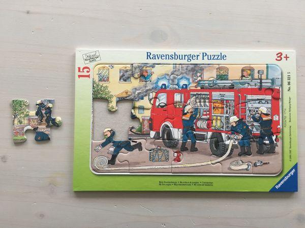 Feuerwehr Auto Puzzle 15-teilig
