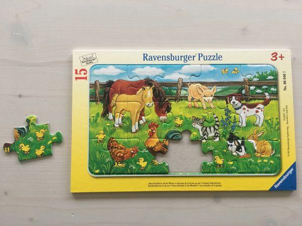 Bauernhoftiere Puzzle 15-teilig