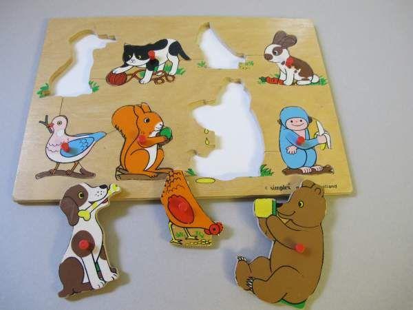 Einsetzformen-Puzzle Tiere