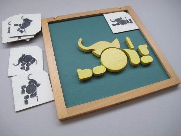 3-Tier Puzzle magnetisch (Elefant)