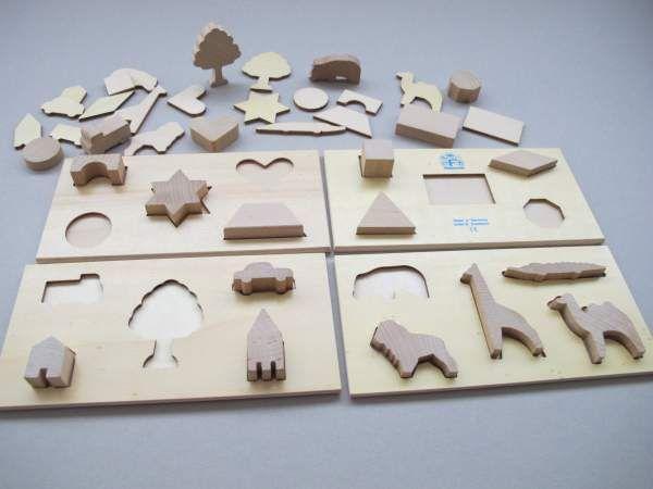 Formenpuzzle aus Holz