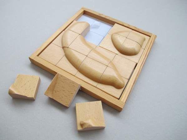 Früchte-Puzzle (Holz) Banane