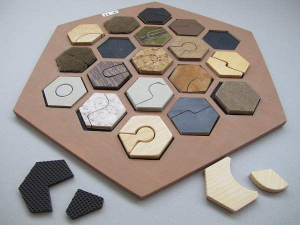 Material-Puzzle 19 W+38 Teile